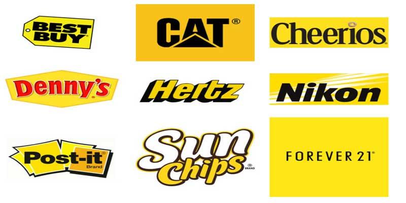 طراحی لوگو با رنگ زرد